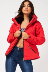 Red Padded coat womens