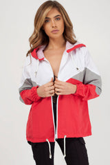 windbreaker red  jacket women styledup fashion