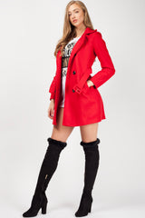 womens red coat
