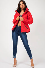 womens zara red jacket