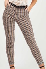 check tapered trousers styledup fashion