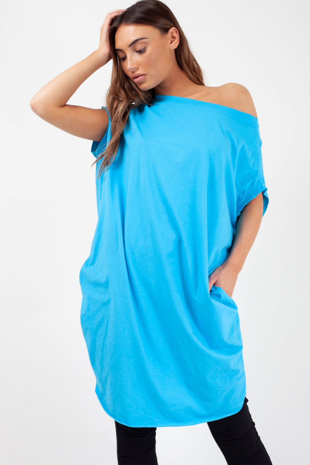 oversized t shirt sky blue