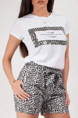 leopard print two piece outfit styledup fashion