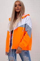 neon orange festival summer jacket