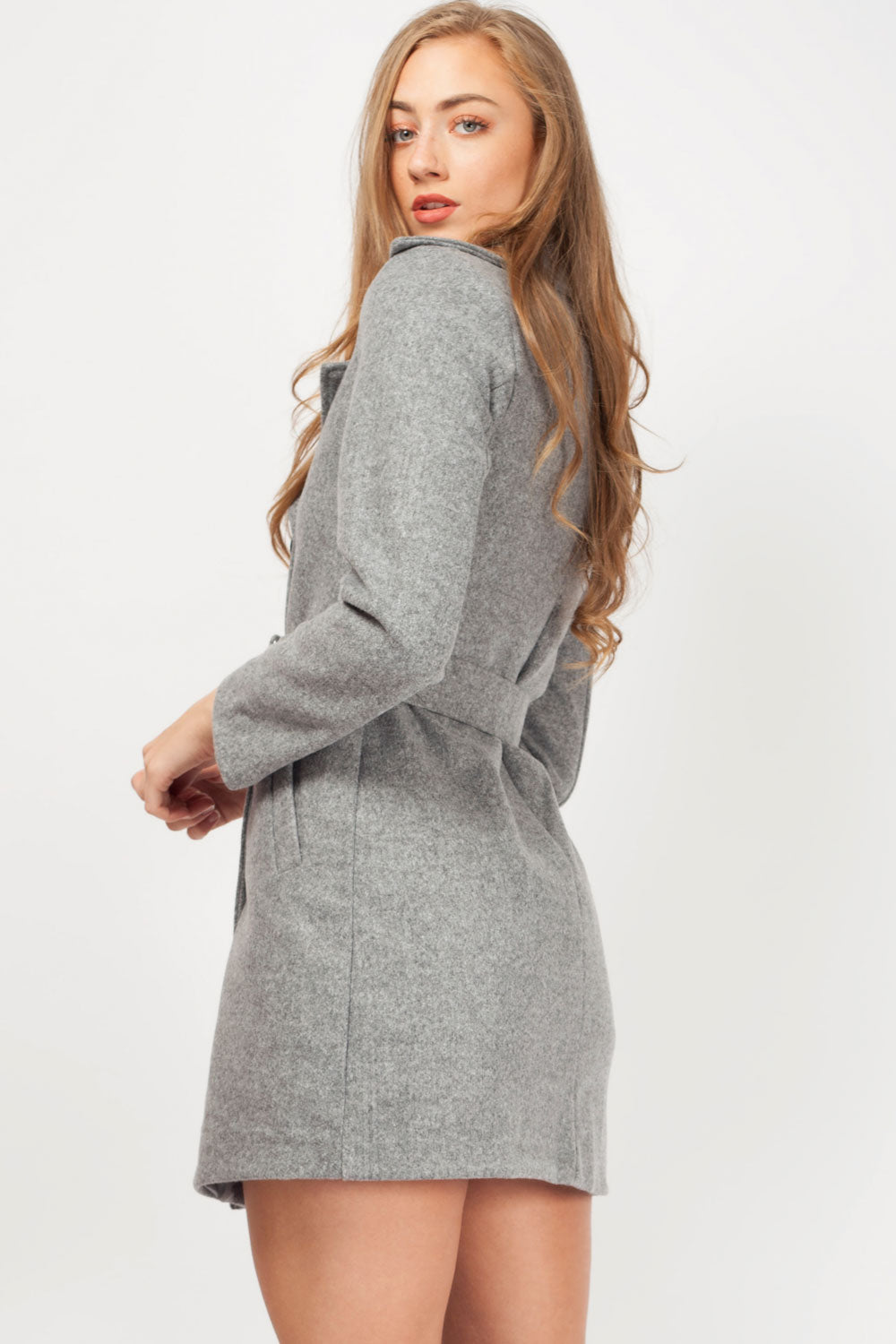 double breasted wool coat womens
