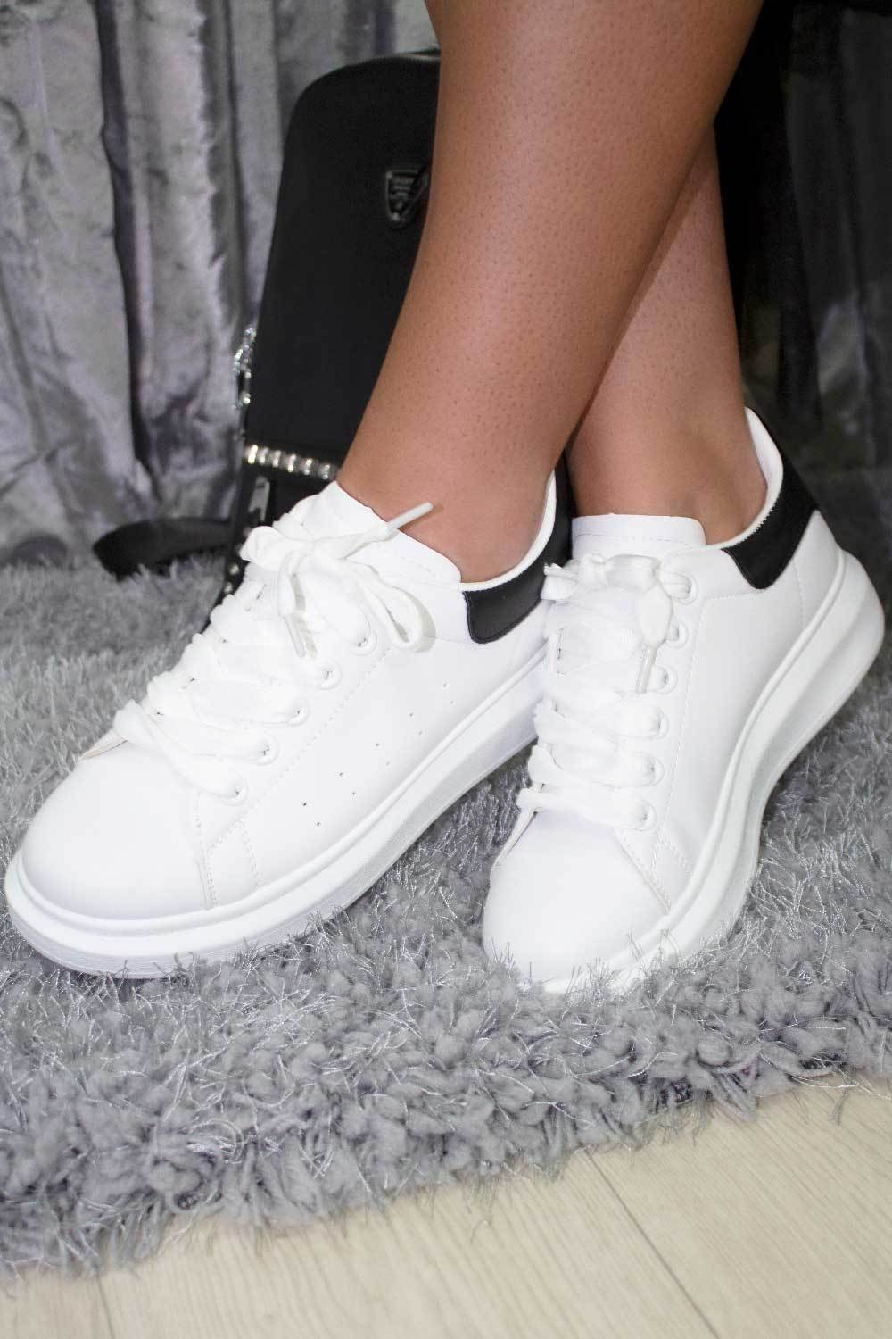 womens white oversized sole sneakers styledup fashion