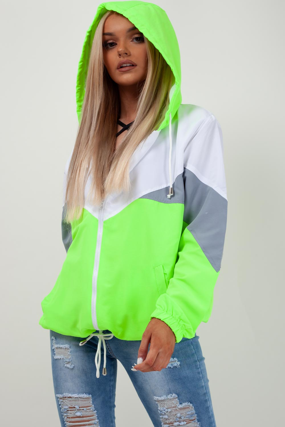 neon green festival jacket womens uk