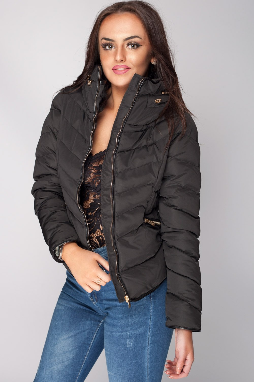 a26306f18e Zara Black Padded Faux Fur Coat Jacket – Styledup.co.uk
