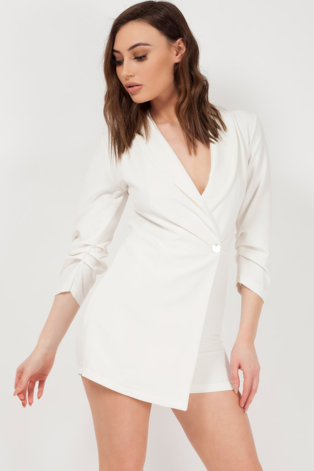 white blazer playsuit