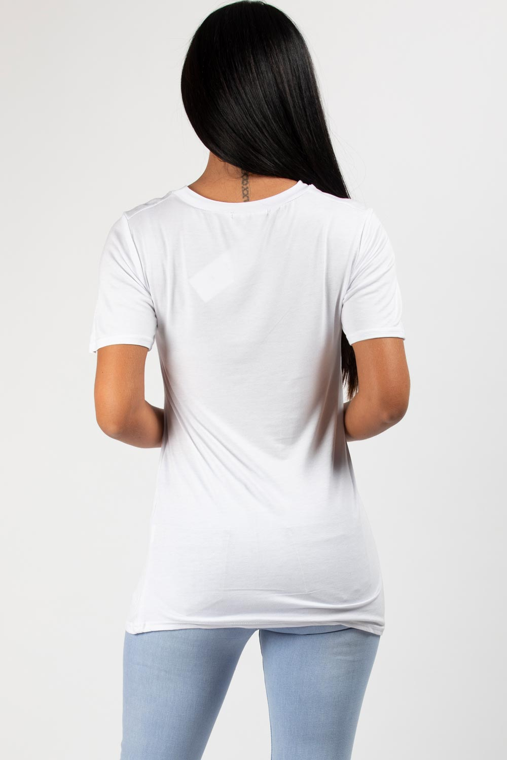 white yves saint laurent inspired top womens