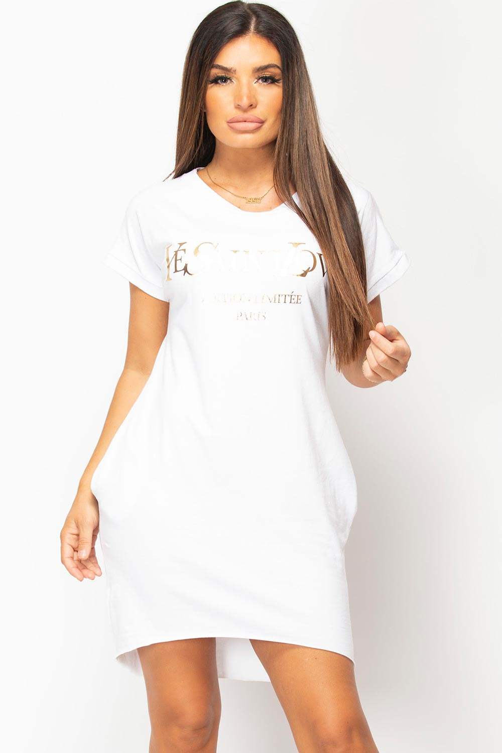 ye saint love slogan t shirt dress