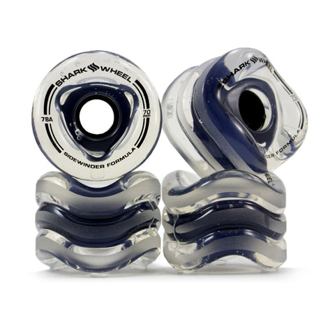 Shark Wheel - Shark Wheel - 70mm Sidewinder - Clear with Black Hub - Brands - Satorial
