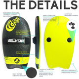 Slyde Handboards - The Grom - Black & Lemon