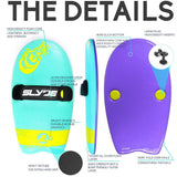 Slyde Handboards - The Grom - Turquoise & Purple