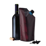 Vapur - Vapur - Vintage Wine Carrier - 750ml - Maroon - Brands - Satorial