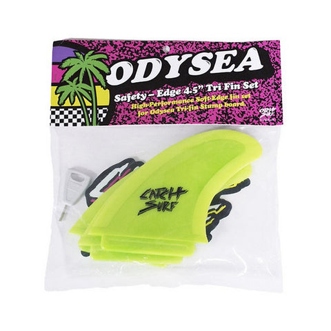 Catch Surf - Stump Safety Edge Thruster Fin Kit - Yellow
