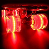 Sunset Skateboards - Flare LED Wheels - 59mm Cruiser ~ Red
