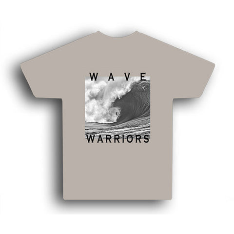 Astrodeck - Astrodeck T-Shirt - Wave Warriors - Back & Bad - Tan - Brands - Satorial