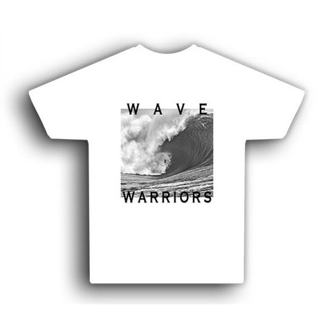 Astrodeck T-Shirt - Wave Warriors - Back & Bad - White