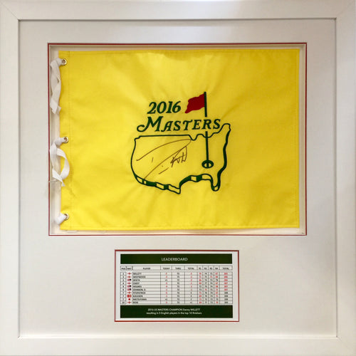 Golf - US Masters 2016 Signed Flag - Danny Willett