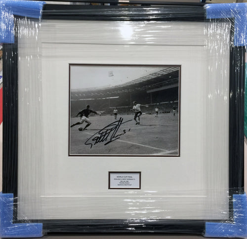 World Cup 1966 - Framed signed by Geoff Hurst with COA