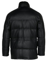 Brioni Leather Puffer Jacket (Midnight Blue)