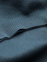 Corneliani Quarter Zip Pique Polo (Petrol Blue)