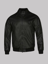 Z Zegna Leather Bomber (Black) - Union 22