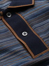 Corneliani Striped Polo (Blue)