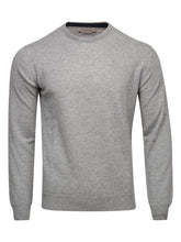 Corneliani Cashmere and Wool Crew Neck Knit (Grey)