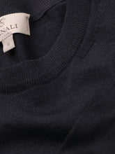 Canali Crew Neck Knitted Jumper (Navy)