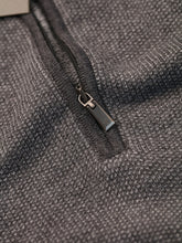Canali Quarter Zip Knitted Jumper (Grey)