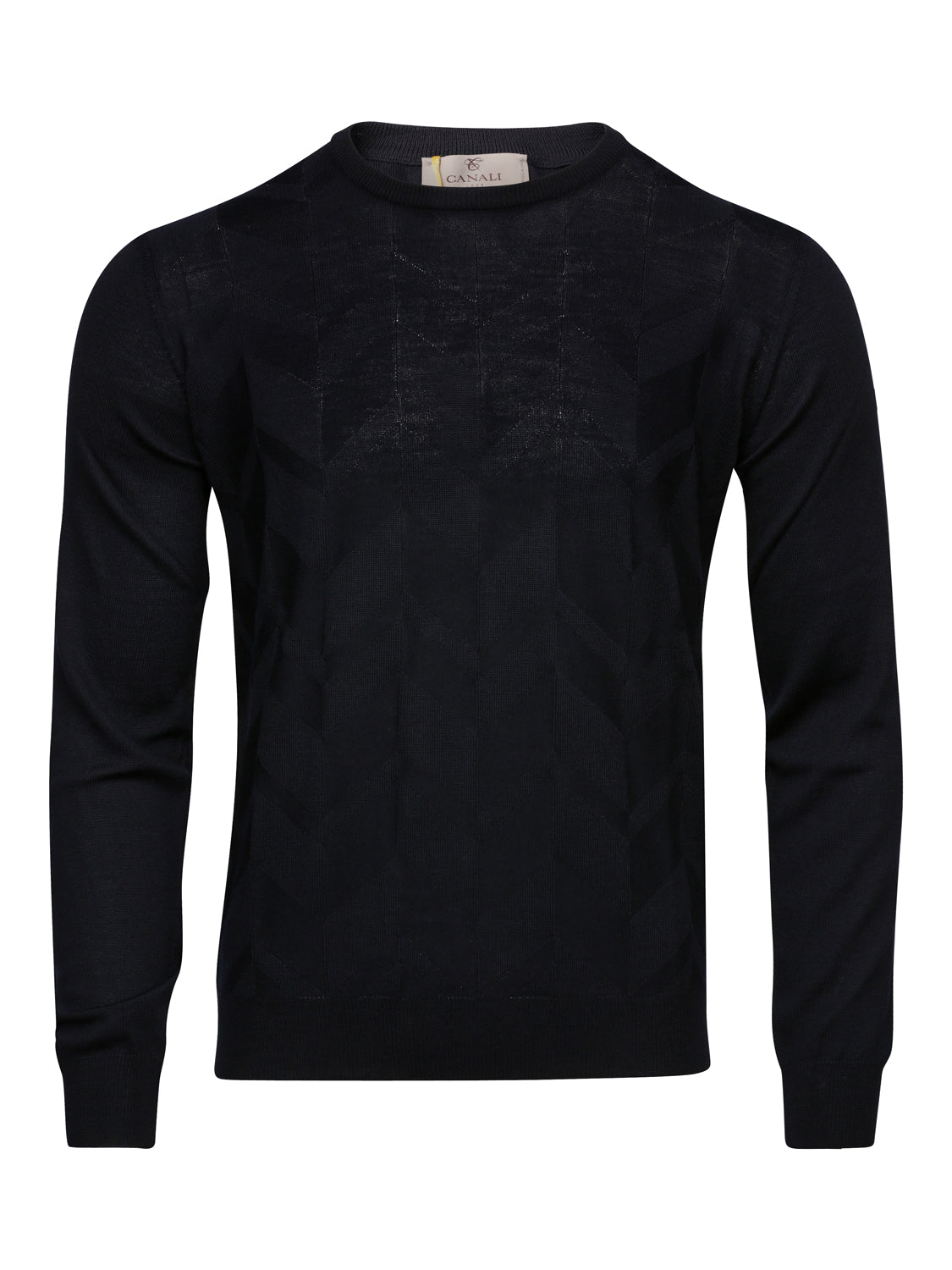 Corneliani Textured Crew Neck (Navy)