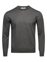 Canali Crew Neck Knitted Jumper (Grey)