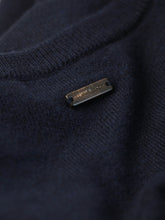 Corneliani Cashmere and Wool Crew Neck Knit (Navy)