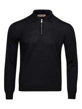 Corneliani Quater Zip Knit (Navy)