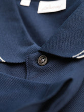 Brioni Trimmed Polo (Navy / Pearl)