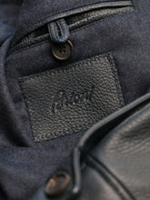 Brioni Deer Leather Blouson (Midnight Blue)