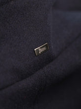 Herno Overcoat With Beaver Trim (Navy)