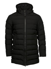 Herno Laminar Long Quilted Coat (Black)