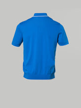 Bertolo Garda Zip Polo (Bluette and White)