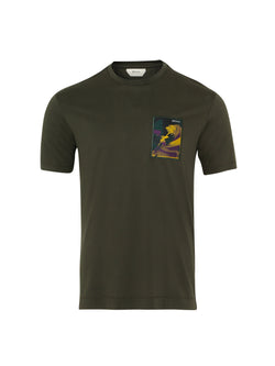 Z Zegna Cotton T-Shirt (Dark Green) - Union 22