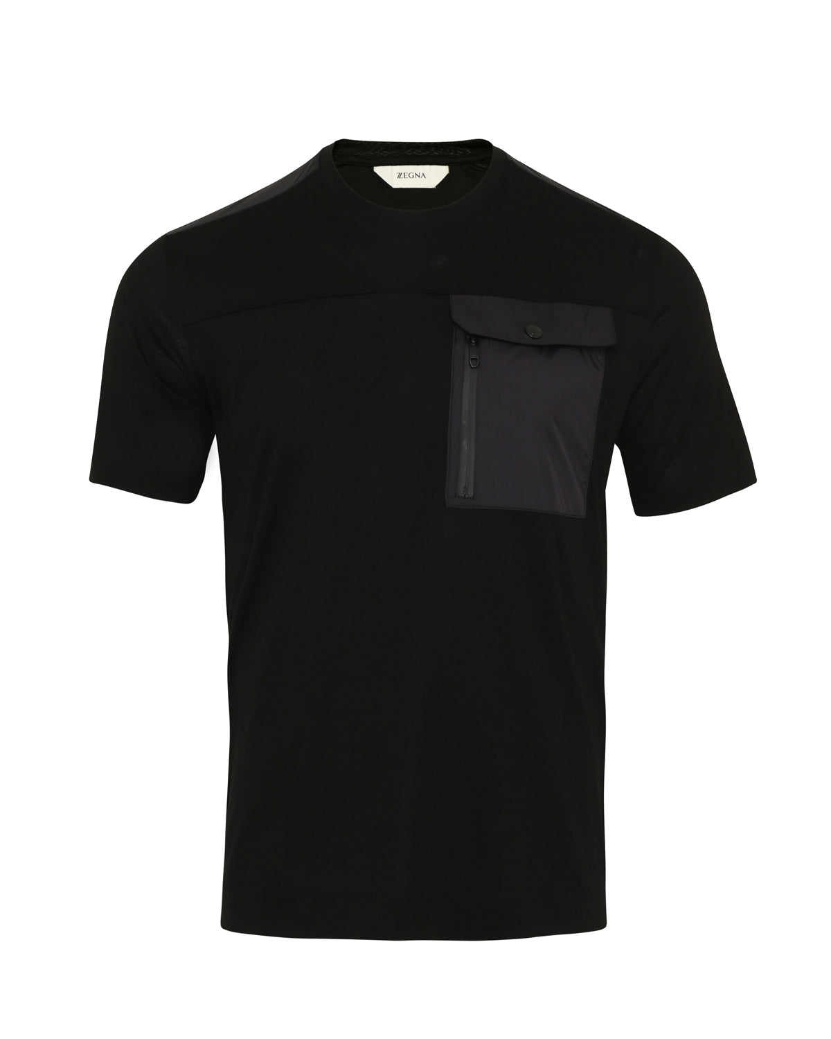 Z Zegna Cotton Pocket T-Shirt (Black) - Union 22