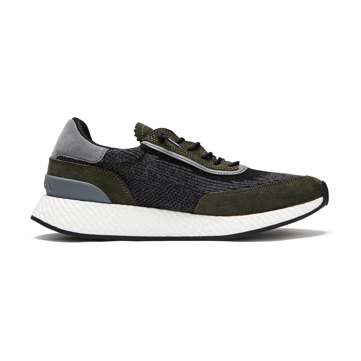 Z Zegna Techmerino™ Piuma Suede Sneakers (Grey / Green) - Union 22