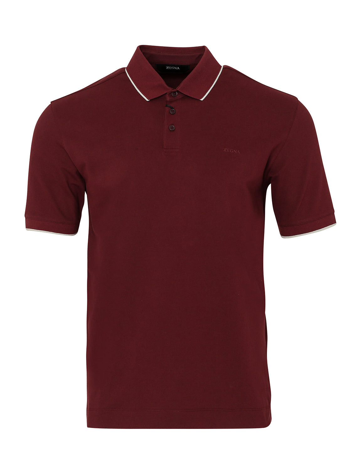 Z Zegna Stretch Cotton Polo (Maroon) - Union 22
