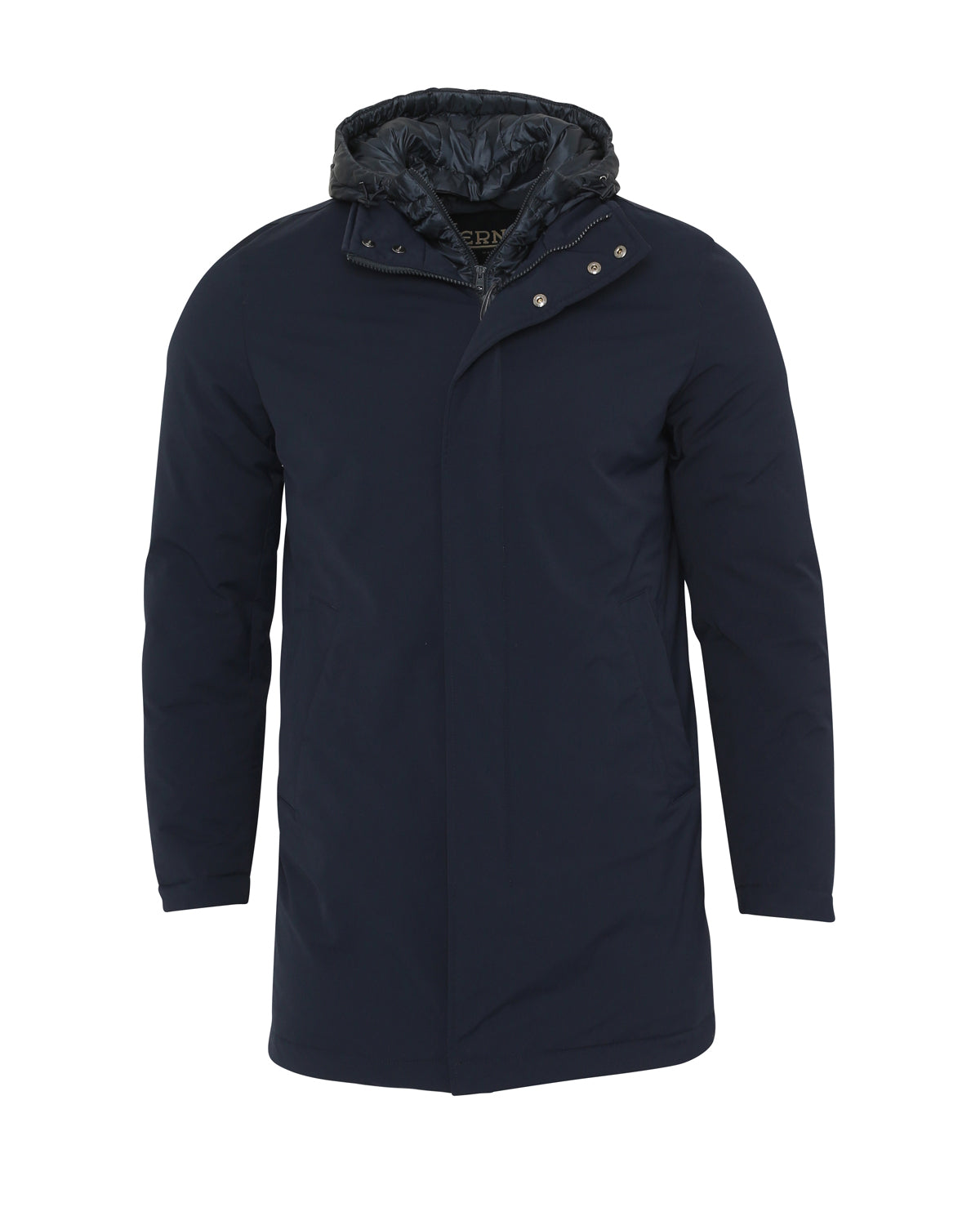 Herno Hooded Jacket With Removable Chest Piece (Navy) - Union 22