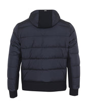Herno Quilted Jacket With Scuba Fabric Trim (Navy) - Union 22