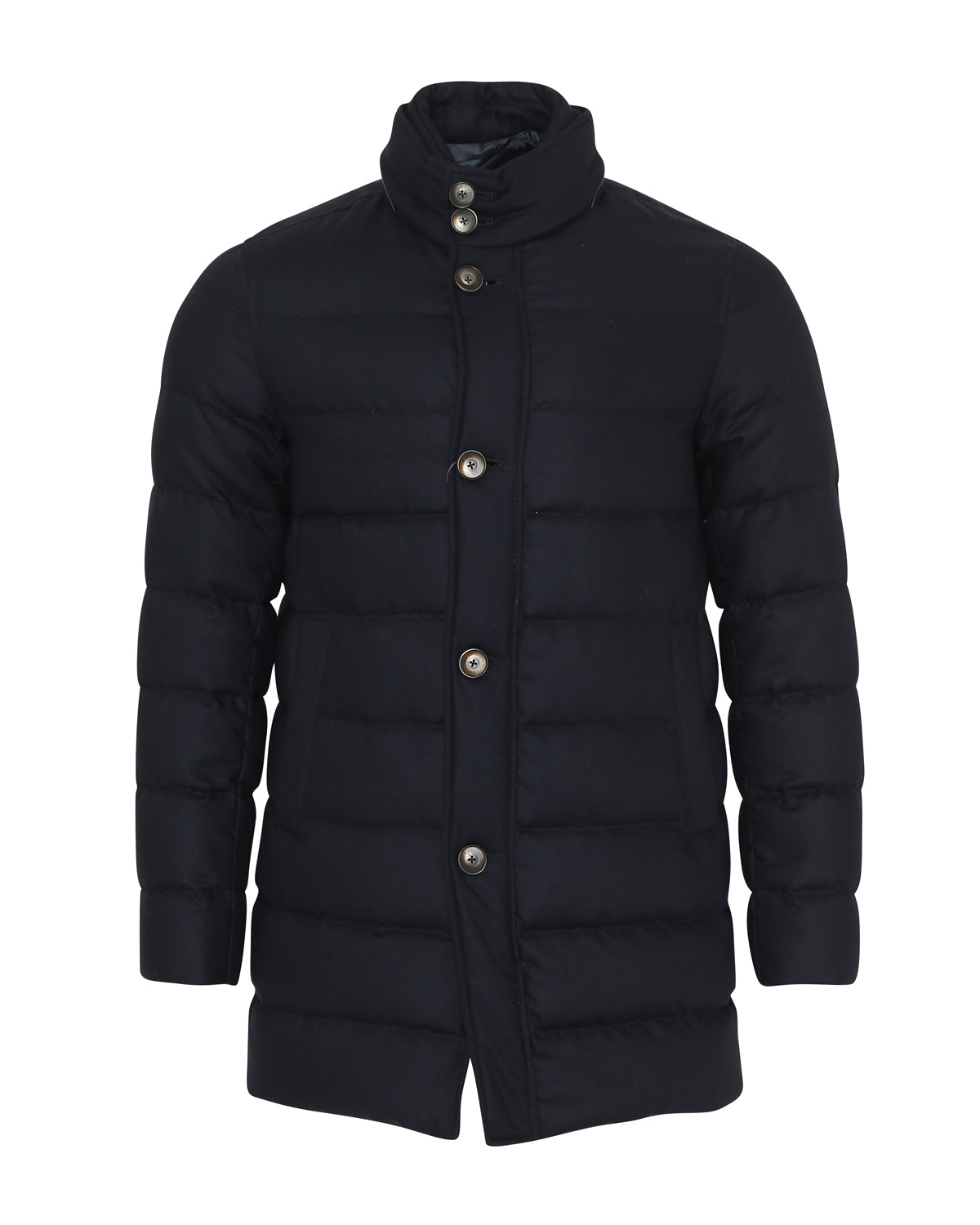 Herno Quilted Signature Fabric Coat (Navy) - Union 22