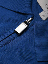 Canali Knitted Zip Polo (French Navy) - Union 22