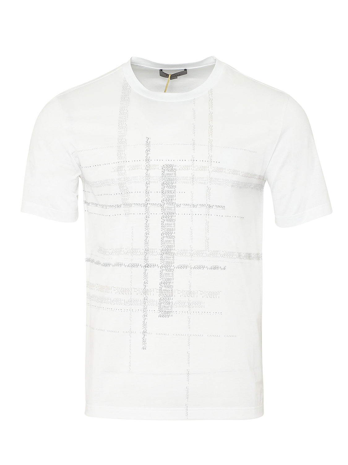 Canali Crew Text Print T-Shirt (White) - Union 22